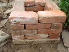Fleur Cottage: Dry-stacked Brick Column