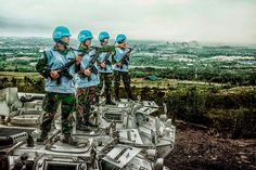 The soldiers of UN Peacekeepers in Peacekeeping Training and Education Center, Outskirt of Bogor city, West Java - Indonesia.
