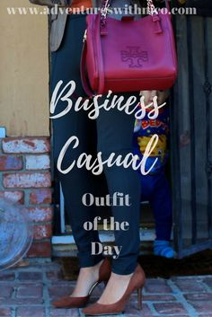 Business Casual Outfit. Tory Butch Satchel  | Target Pumps | Zara Jacket | Daniel Tiger Baby| Attorney Fashion | Lawyer Fashion | Abogada |