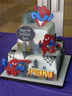 Spiderman cake by Sweet Lisa's