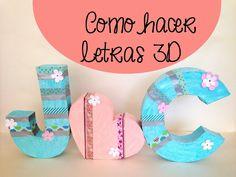 Cómo hacer letras 3D