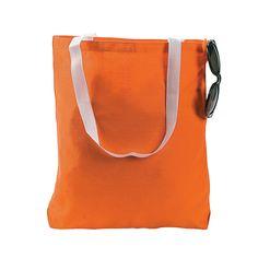 Medium Orange Tote Bags - OrientalTrading.com