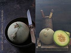 With summer comes a flood of fruit... ... and the days go by idling away with the camera  #melons #summer #foodstying #foodphotography #fruit #cantaloupe #raw #ingredients