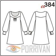 Это короткое платье можно кроить не только из летних тканей, но и из плотных материалов с шерстью. Рукава могут быть сшиты из прозрачных материалов, но не