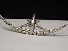 1stdibs | Antique Diamond Crescent Brooch , English C.1880