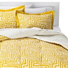 Room Essentials� Maize Geo Comforter Set - Yellow