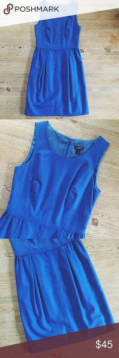 J.Crew Royal Blue Dress This dress is gorgeous! EUC, worn a couple of times, no flaws, rips or stains, mint condition. Size is 0. Encloses with back zipper and has 2 side pockets.    I. A M. A. S U G G E S T E D. U S E R ❕10% OFF purchases of 3 or more items❕       Shipping the day of or next day                    C L O S E T. R U L E S                   •no trading                    •smoke free home J. Crew Dresses