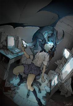 """泉Posuka(寶下)站在微博:""""今天的油畫""""藍燈""""https://t.co/RvymNoTt9L"""""""
