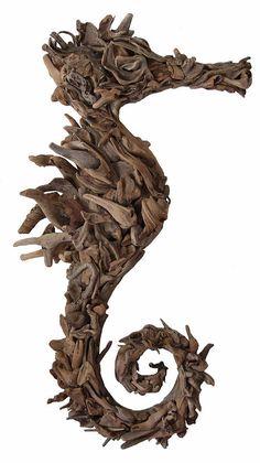 Seahorse driftwood http://www.dorisbrixham.co.uk/wall-art/driftwood-sculpture/driftwood-seahorse.html