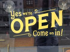 Like Signs - Yes we're Open