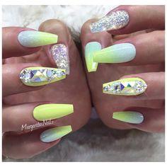 Pastel yellow ombré coffin nails glitter nail art design summer nails #coffinnails#nailart#ombre #MargaritasNailz#vetrogel#nailfashion#naildesign#nailswag#hairandnailfashion#nailedit#nailcandy #nailprodigy#nailpromagazine #nailsofinstagram #nailaddict #nailstagram #nailsoftheday#nailporn#ombrenails #nailsmagazine#nailpro #nails2inspire #nailpromote#naildesigns#nailideas#exoticnails#summernails#glitternails
