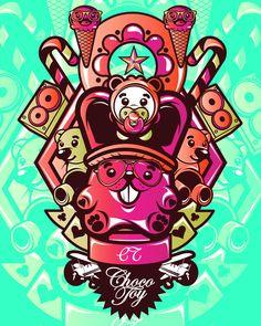 Hosber Art - Blog de Arte & Diseño.: Ilustraciones coloridas de ChocoToy