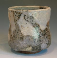 40% Of Price Donated to Red Cross Japan Relief Effort Yunomi Wood Fired Japanese Style Tea Cup Carved Foot