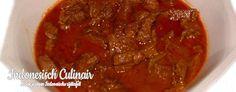 Rendang Pedis - Gestoofd, pittig rundvlees in kokosmelk - Stewed, spicy beef in coconut milk