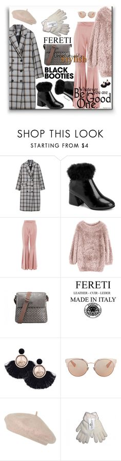 """Back to Bacics: Black Booties"" by ragnh-mjos ❤ liked on Polyvore featuring Topshop and Christian Dior"