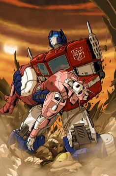 Sweet depiction of Optimus Prime