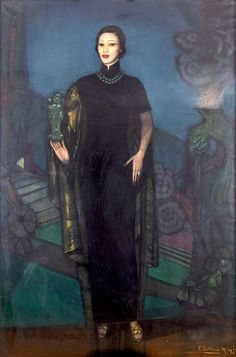 [exhibition] Federica Beltran-Masses: Fantasy, Nocturnes and Portraits in the Jazz Age   2 Oct - 9 Nov 2012 @ Stair Sainty gallery, London (portrait of Madame Wellington-Koo by Federico Beltran-Masses)