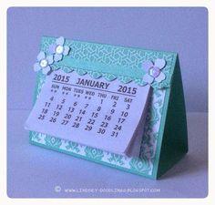 Stampin Up, handmade desk calendar