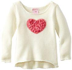 Amazon.com: Design History Baby Heart Sweater, Antique White, 18M: Clothing
