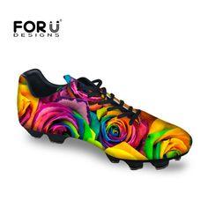 Aliexpress.com  Comprar 2017 Nuevos Hombres de Confort Zapatos de Impresión  de La Flor Transpirable Botas Cornamusas Zapatos de Fútbol de Césped Al  Aire ... 94a89476516f0