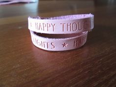 Quote armband rose peach