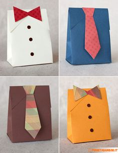 Creative fathers day crafts and unique handmade gift ideas intended for handmade paper crafts for kids Diy Father's Day Gift Box, Tie Gift Box, Father's Day Diy, Diy Box, Paper Gift Box, Diy Father's Day Shirts, Diy Shirt, Men's Shirts, Craft Gifts