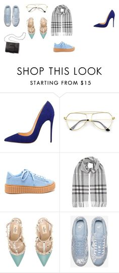 """Nice"" by fiacaembb on Polyvore featuring Burberry, Valentino and NIKE"