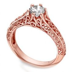 Filigree rose gold wedding rings Chicago - The Wedding Specialists