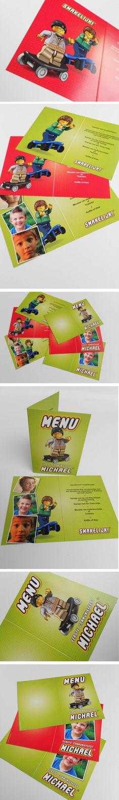 Lego menukaarten 'Skaters' http://www.kaartencollectie.be/nl/lego-menukaart-communiefeest-skaters-1199.htm