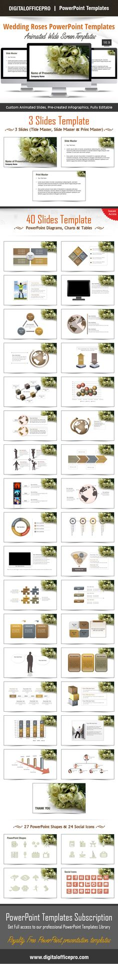 Impress and Engage your audience with Wedding Roses PowerPoint Template and Wedding Roses PowerPoint Backgrounds from DigitalOfficePro. Each template comes with a set of PowerPoint Diagrams, Charts & Shapes and are available for instant download.