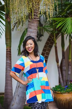 PERFECT T  LuLaRoe's Perfect T boasts a fun swing shape complimented by flirty side slits and a flattering half-sleeve that makes this simple, comfortable top the star of any outfit. Pair it with any of LuLaRoe's skirts and leggings for a look that can't be ignored!