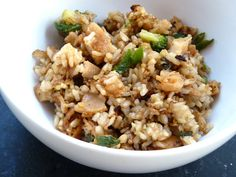 Fried rice:  Leftover Chinese takeout makeover