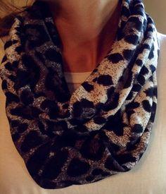 Black Leopard Scarf $15 #scarves #leopard #infinity