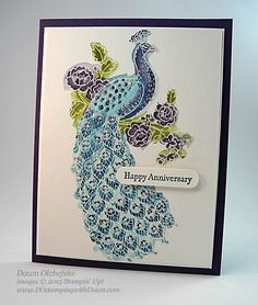 Perfect Peacock Anniversary by dostamping - Cards and Paper Crafts at Splitcoaststampers