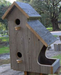 50 Amazing Bird House Ideas For Your Backyard Space . Anyone who enjoys having birds around them will find a bird house inexpensive to build and great fun. Bird house plans come in many shapes and sizes a. Wooden Bird Houses, Bird Houses Diy, Bird House Plans, Bird House Kits, Homemade Bird Houses, Birdhouse Designs, Birdhouse Ideas, Birdhouse Craft, Birdhouse Post