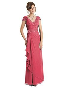 Vivebridal Women's Long Mother of the Bride Evening Dress with Beadings and Pleat (Us 2, Coral) Vivebridal http://www.amazon.com/dp/B013OSZADQ/ref=cm_sw_r_pi_dp_r.wYvb092B7CG