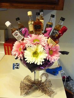 Trophy In Training: My Roomie is 21!!!!  Liquor Bouquet