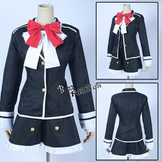 Stylish Dress Style DIABOLIK LOVERS Komori Yui Women Girl Anime Cosplay Costume