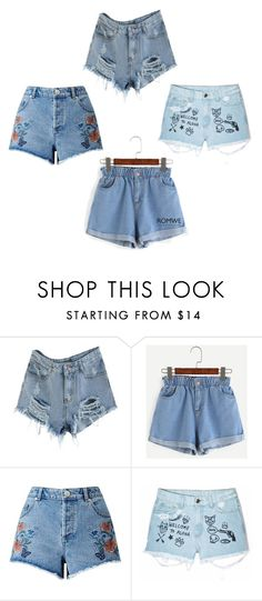 """""""Denim Shorts"""" by tarik-6 ❤ liked on Polyvore featuring Miss Selfridge, Aloha From Deer and romwe"""
