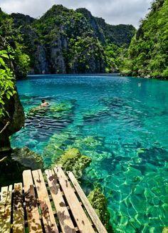 Serine tropical river thailand