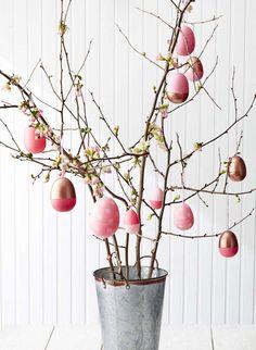 Alberi di Pasqua - Albero di Pasqua con ovetti rosa Easter trees - Easter tree with pink eggs