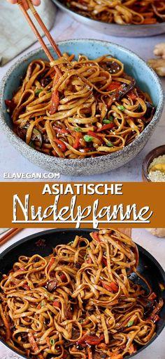 Vegan Noodles Recipes, Asian Noodle Recipes, Veggie Recipes, Whole Food Recipes, Vegetarian Recipes, Cooking Recipes, Healthy Recipes, Vegan Dinners, Fried Noodles Recipe