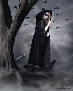 """#Gothic #Celtic #Goddess #art #print - """"The Morrigan"""" #Etsy #Gifts #Shopping @etsy @Etsy"""