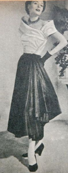top and skirt, Libelle 1949