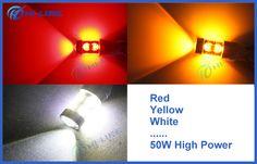 50W S25 LED Bulb 1156 Ba15s CREE Chip Fog Headlights Reverse Brake Back-up Tail Lights