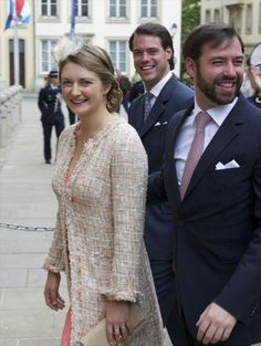 Closing of the Octave of Our Lady of Luxembourg, May 25, 2014-HGD Stephanie, Prince Felix and HGD Guillaume