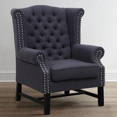 TOV Furniture Fairfield Grey Linen Club Chair