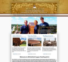 New website launched for Whitefield Copper Roofing and Art which is located in Green Bay, Wisconsin. Whitefield Roofing specializes in restoration work & copper roofing for historical landmarks like churches, courthouses, lighthouses, college campus buildings, and multi-million dollar homes. They can help with copper finials, dormers, cupolas, chimney caps, conductors, roofs, gutters, downspouts, and louvered vents to your specifications.