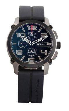 PORSCHE DESIGN THE CHRONOGRAPH P6930 n° 249145 vers 2012 Grand chronographe bracelet en titane.