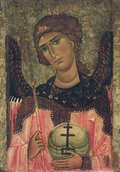 12th Century Greek Icon of Archangel Gabriel